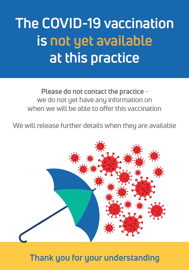 COVID Vaccinations are not yet available at Norton Medical Centre