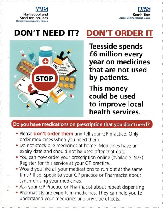 Don't Order Medication you Don't Need Information