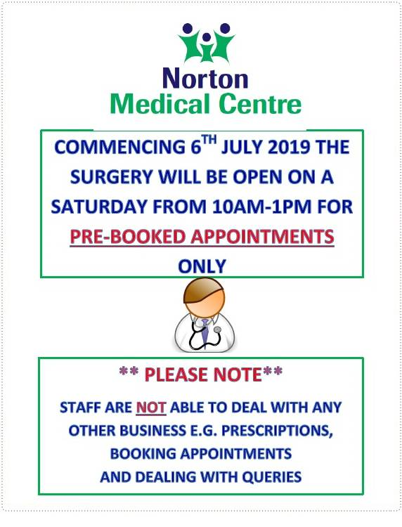 Saturday Appointment Information